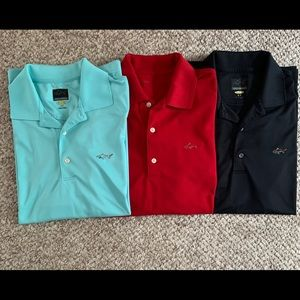 Lot of 3 Greg Norman Golf Polo Shirts Men's Small